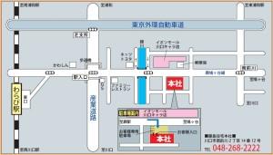 (株)藤島住宅 本社案内図
