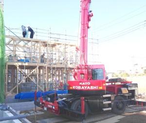 藤島住宅新築一戸建て上棟風景