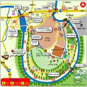 巾着田 曼珠沙華公園案内図