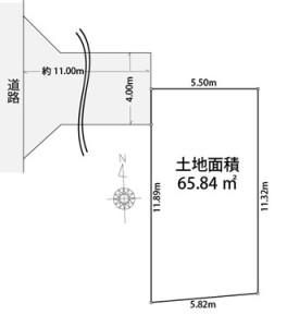 さいたま市桜区田島4丁目土地区画図
