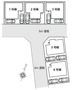 スペリュールヴィーレ鳩ヶ谷、区画図
