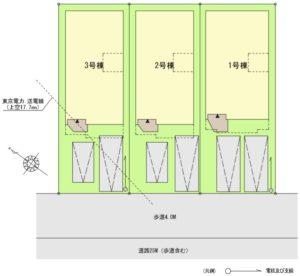 藤島住宅32期大門区画図