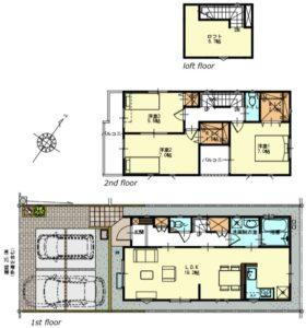 藤島住宅 32期大門2号棟間取図