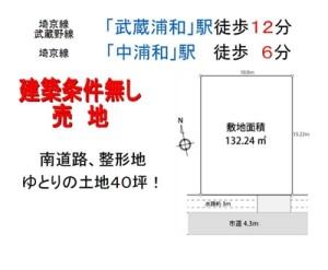 武蔵浦和駅 土地