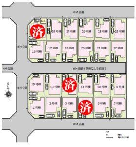 藤島住宅在家町区画図