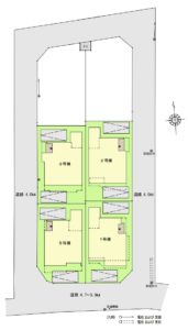 58鳩ケ谷区画図、藤島住宅新築