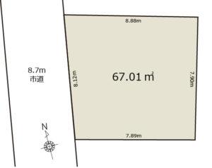 川口市東本郷土地区画図