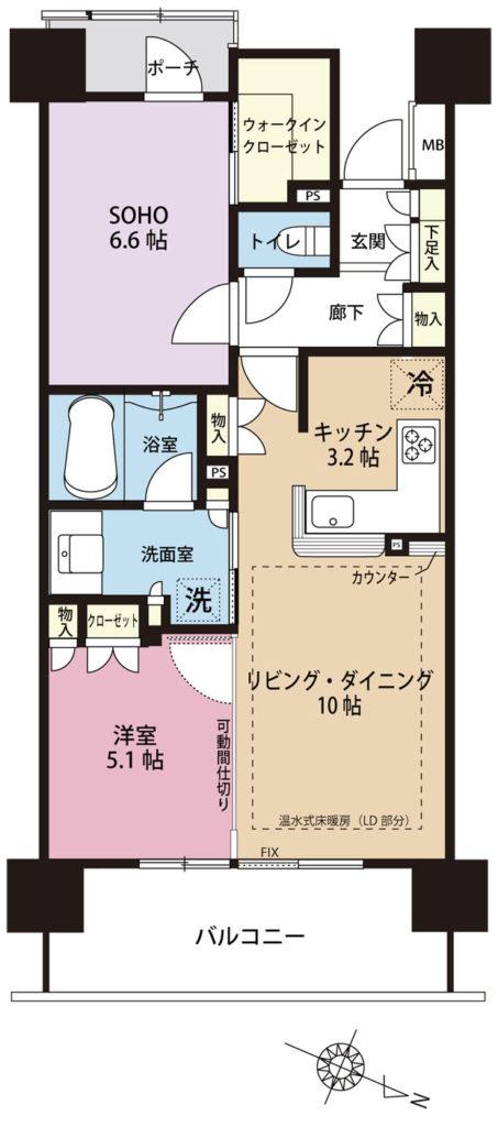 武蔵浦和SKY&GARDEN 間取り図